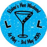 Personalised Hen Night Sticker Design 7